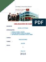 Monografia Obligaciones de Dar