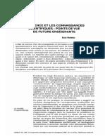 La Science Et Les Connaissances pdf