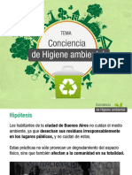 estadistica conciencia ambiental