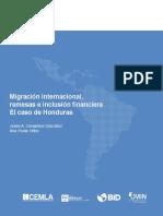 2017 04 Migracion Remesas Inclusion Honduras