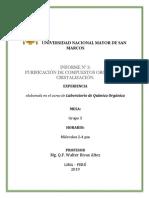Informe 3 Purificacion de Compuestos Organicos