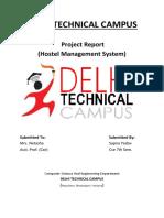 Hostel Management System Project Report