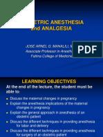 Obstetrics Anesthesia