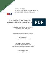 Evaluación Técnico Económica de La Expansión Central Hidráulica El Traro
