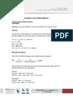 Ecuaciones transformador