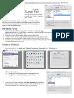 Keyboard Shortcuts - Create Custom Shortcuts on Mac