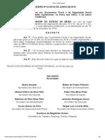 Decreto Financeiro Nº 43 de 04 de Junho de 2019