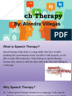 speech therapy presentation