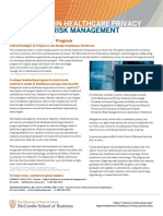 One Page Brochure_Leadership in Healthcare Privacy and Security Risk Management_5!24!19