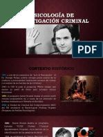 Psicología de Investigación Criminal