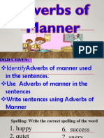 Grade 4 Ppt. English. Adveb of Manner