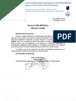 Solicitare FSANP - Constituire Grup de Lucru MJ (deblocare proceduri de resurse umane)