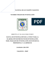 Directiva de Investigacion 2018-1