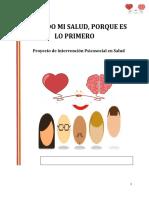 proyecto de intervención de psicología de la salud