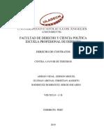 Contrato a Favor de Terceros Informe