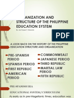 Organization and Structure of the Philippine Education System [Autosaved]