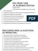 Preguntas Para Una Auditoria Administrativa