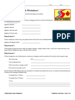 Ws Rnk Sspathfinder Pathfinder Rank Worksheet for Senior or Boy Scouts of th me Philippines
