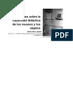 Capacidad Didáctica de Los Museos