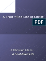 A Fruit-Filled Life in Christ