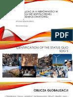 Globalizacja a Nierówności w Rozwoju We Współczesnej Gospodarce a.m-o