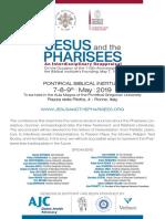JesusAndThePharisees InternationalConference2019 Biblicum Rome
