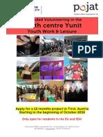 Volunteer Call Yunit Austria2019