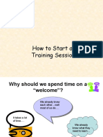 2 How to Start a Training Session