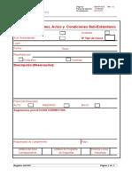 SSO-P-10-2 Reporte de Incidentes, Condiciones y Actos Subestandares