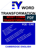 Key Word Transf - Most Common Transfor
