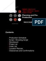 planning and prepodution