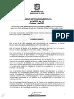 Consejo Superior Universitario - Acuerdo -005