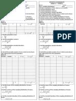stat worksheet