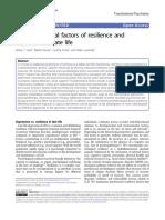 Factores Psicologícos de La Resiliencia y Depresion en La Vida Adulta Tardia