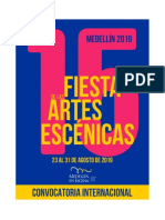 CONVOCATORIA INTERNACIONALXV FIESTA DE LAS ARTES ESCÉNICAS-2019