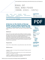 A Survey on the Intake of Energy Drinks Among College Students and Young Professionals in Metro Manila _ Barcelona _ Asian Journal of Agriculture and Food Sciences
