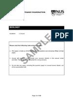2018 Biology (1) (Sample Past Paper)