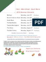 2019 Nornay Park Summer Concert