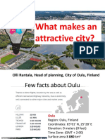 What Makes an Attractive City - Case City of Oulu - Olli Rantala Head of Planning