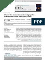 Efecto del Tratamiento en la fibra de kenaf