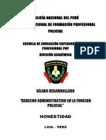 Silaus Derecho Administrativo en La Funcion Policial