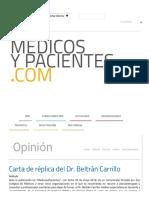 Carta de Réplica Del Dr. Beltrán Carrillo