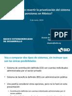 ¿Es recomendable revertir la privatización del sistema de pensiones en México?