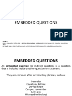 Embedded Questions