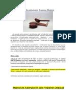 Acta Constitutiva de Empresa