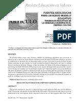 Tendencias Educativas de La Venezuela Moderna