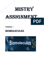 362853205 Biomolecules Chemistry Assignment