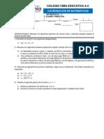 2° examen trimestral (mate - 3)