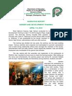 Rnshs Gad Narrative and Pictorial Report 2019
