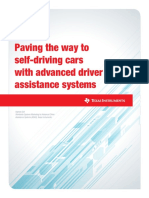 Paving the way to self-driving cars with advanced driver assistance systems